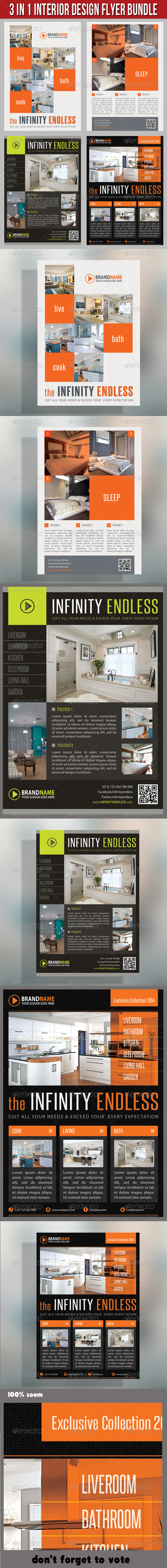 GraphicRiver 3 in 1 Interior Product Flyer Bundle 01 6813654