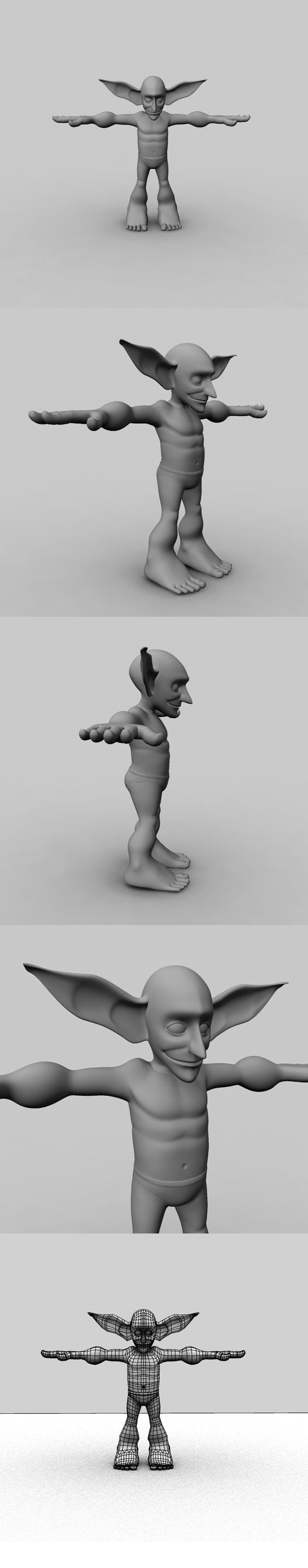 Cartoon Character Model - 3DOcean Item for Sale