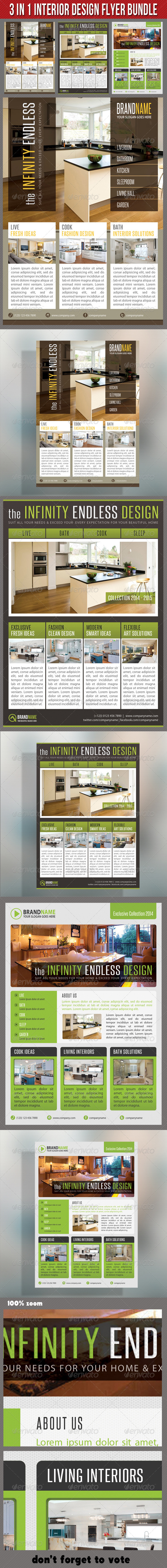 GraphicRiver 3 in 1 Interior Product Flyer Bundle 02 6813871