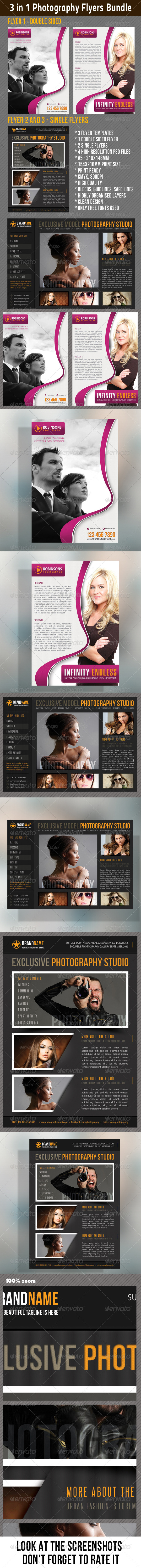 GraphicRiver 3 in 1 Photography Multipurpose Flyer Bundle 02 6813910