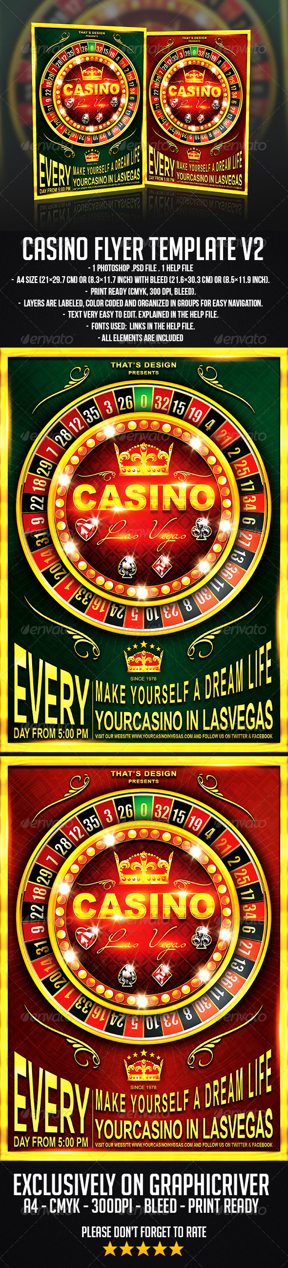GraphicRiver Casino Flyer Template V2 6814001