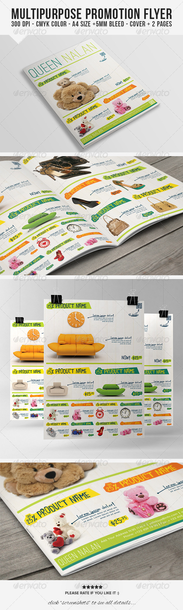 GraphicRiver Multipurpose Product Promotion Flyer 6814102