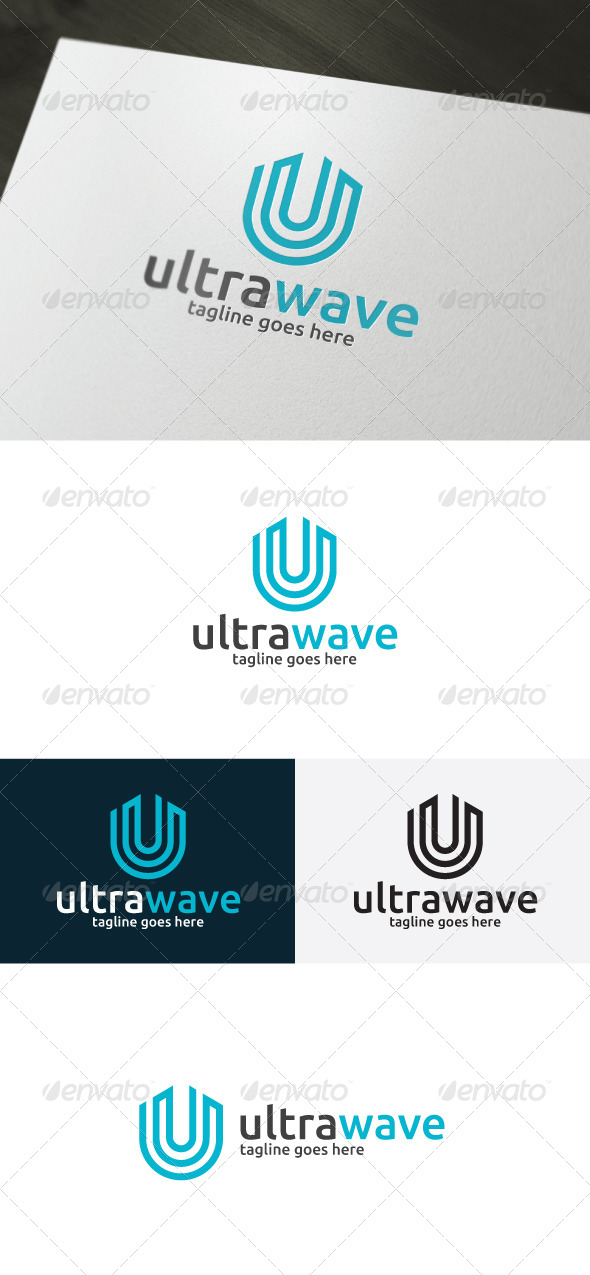 GraphicRiver Ultra Wave Logo Letter U 6814220