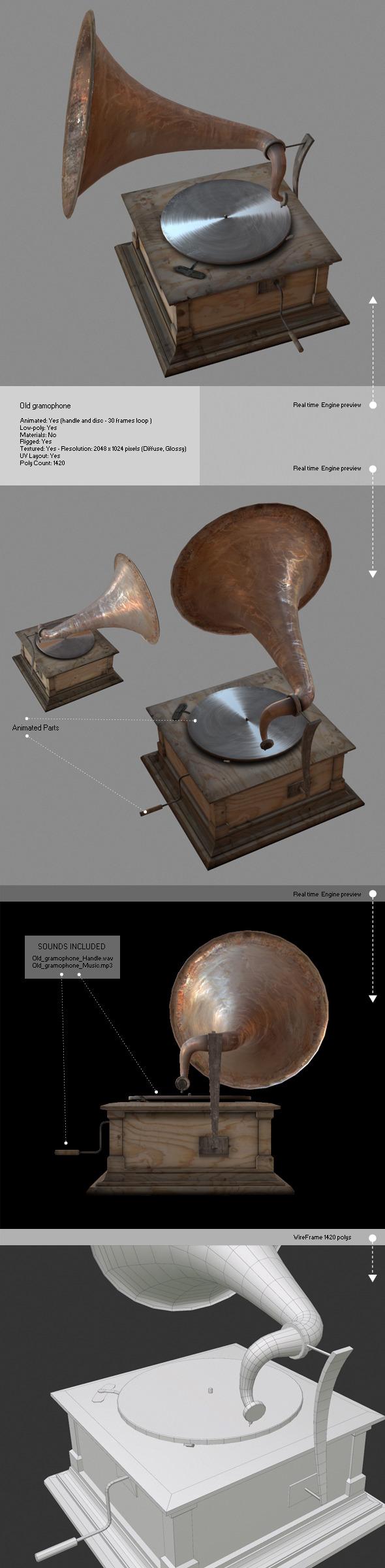 3DOcean Old Gramophone 6814763
