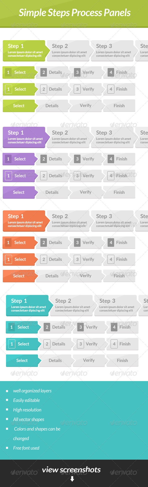 GraphicRiver Simple Steps Process Panels 6814856