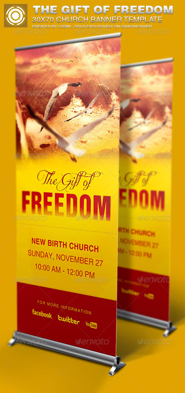 GraphicRiver The Gift of Freedom Church Banner Template 6814968