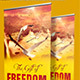 Gift of Freedom Church Banner Signage Template - GraphicRiver Item for Sale