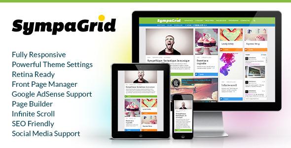 SympaGrid - Responsive Grid WordPress Theme