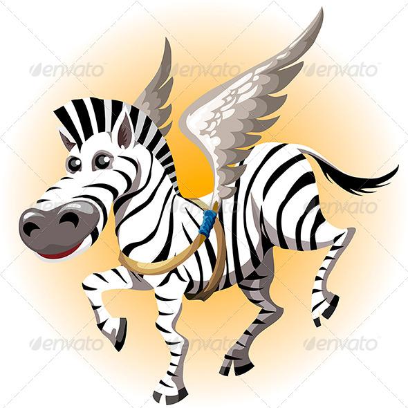 GraphicRiver Pegasus Zebra 6814996