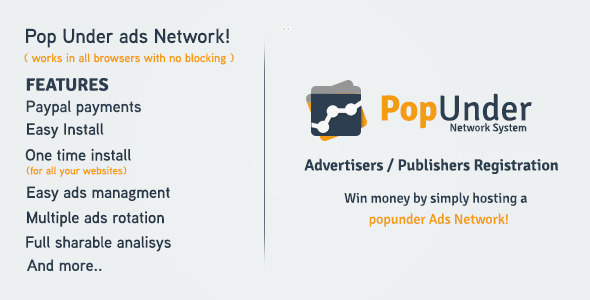 CodeCanyon Pop Under Ads Network 6815044