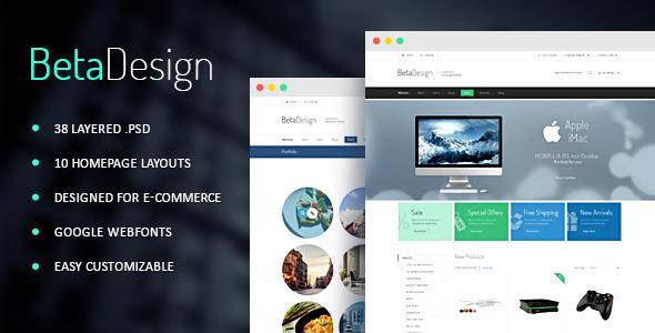 Beta Design | E-Commerce PSD Template