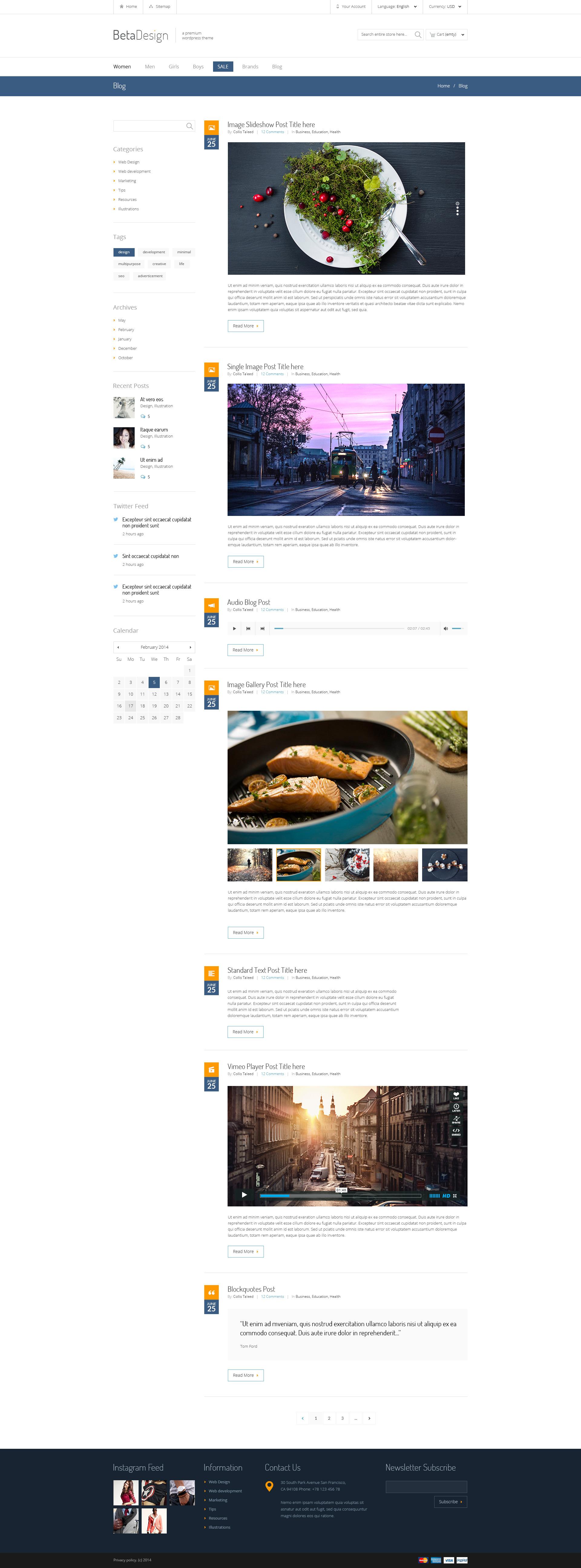 Beta Design   E-Commerce PSD Template