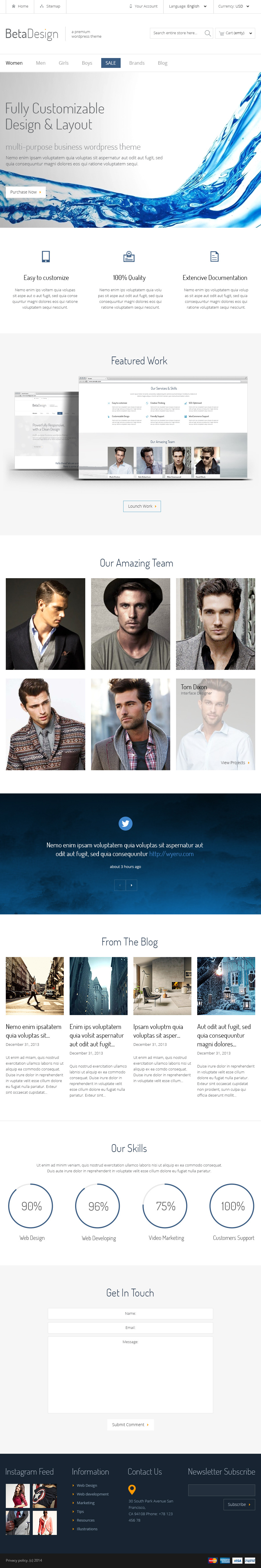Beta Design | E-Commerce PSD Template