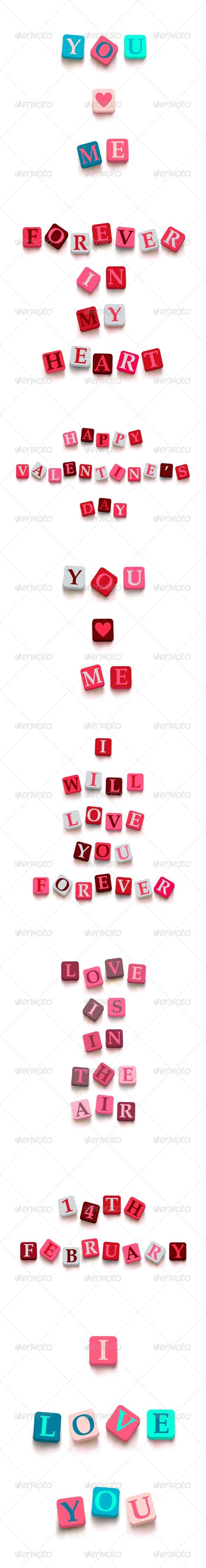 GraphicRiver Valentine s Day Cards Set 6815134