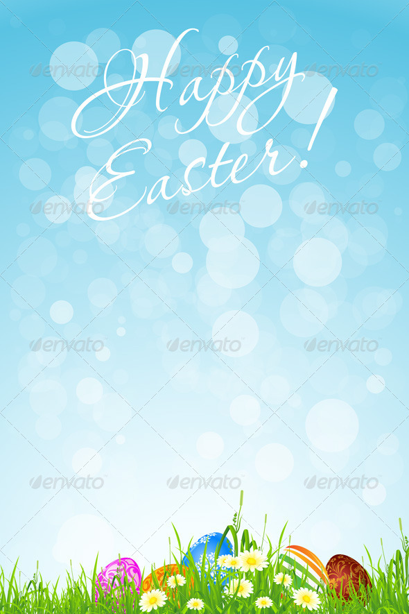 GraphicRiver Easter Holiday Background 6815211