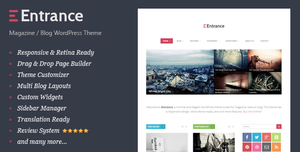 ThemeForest Entrance WordPress Theme for Magazine and Review 6815286