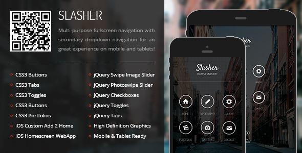 ThemeForest Slasher Mobile & Tablet Responsive Template 6815292