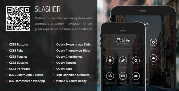 Slasher   Mobile & Tablet Responsive Template