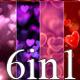 Hearts Valentine Loop 6in1 v6 - VideoHive Item for Sale