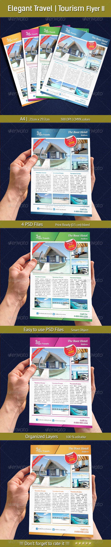 GraphicRiver Elegant Travel Tourism Flyer II 6815557