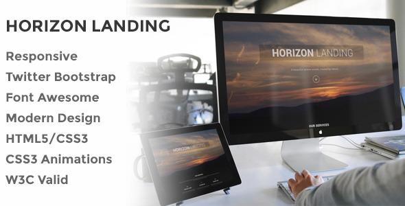 Horizon Responsive Landing Page