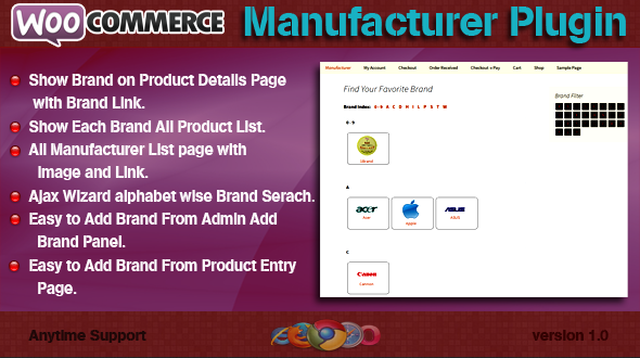 WooCommerce Manufacturer Plugin