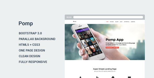Pomp - Landing Page Template