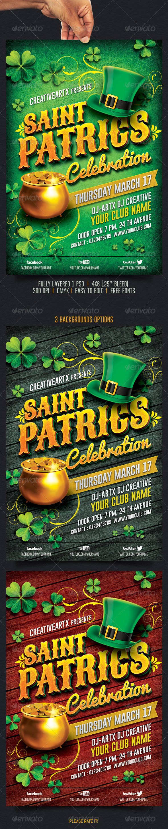 St. Patricks Celebration - Events Flyers