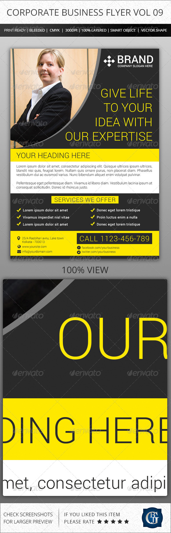 GraphicRiver Corporate Creative Business Flyer Vol 09 6816577