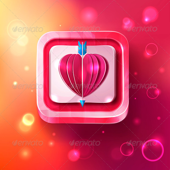 GraphicRiver Valentines Day Card with Arrow 6816638