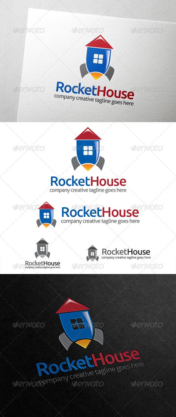 GraphicRiver Rocket House Logo 6816646