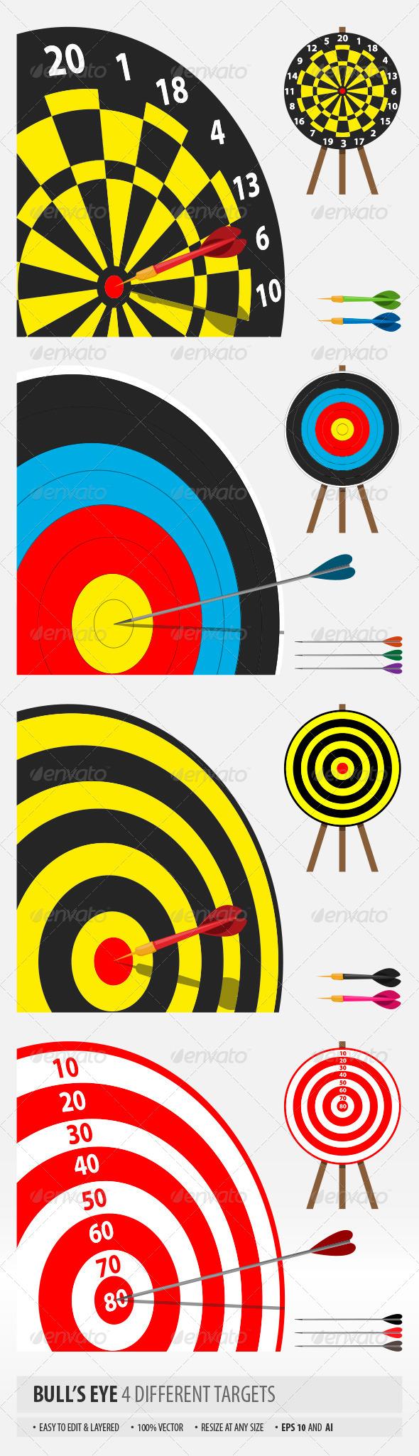 GraphicRiver Bull s Eye 6816647
