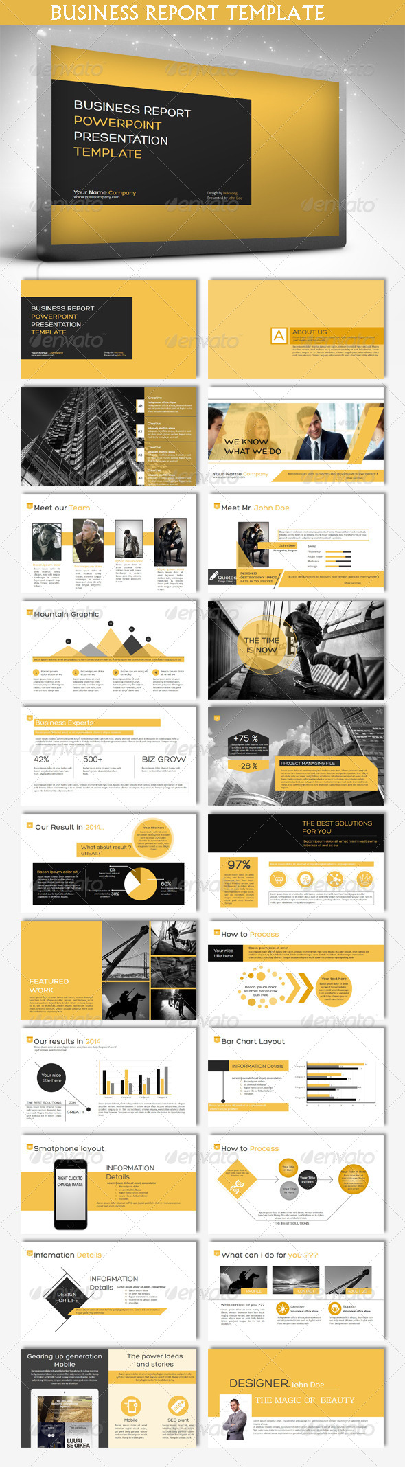 GraphicRiver Business Report Powerpoint Template 6816898