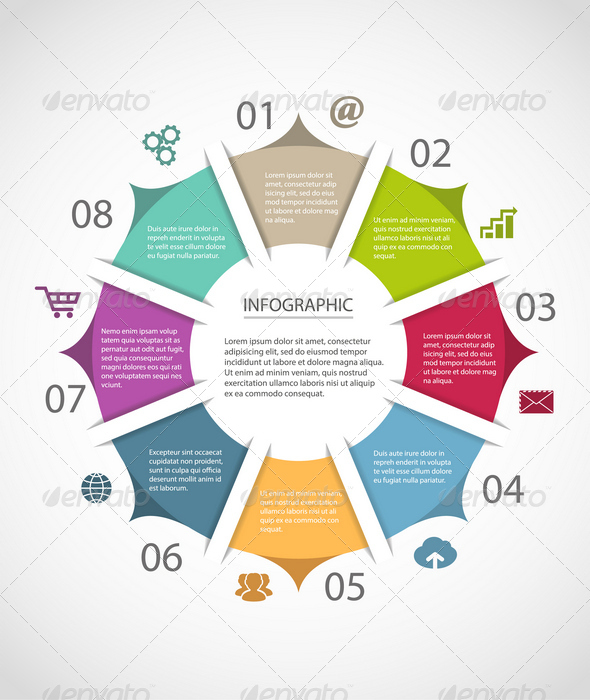 GraphicRiver Circle Infographic Template 6817888