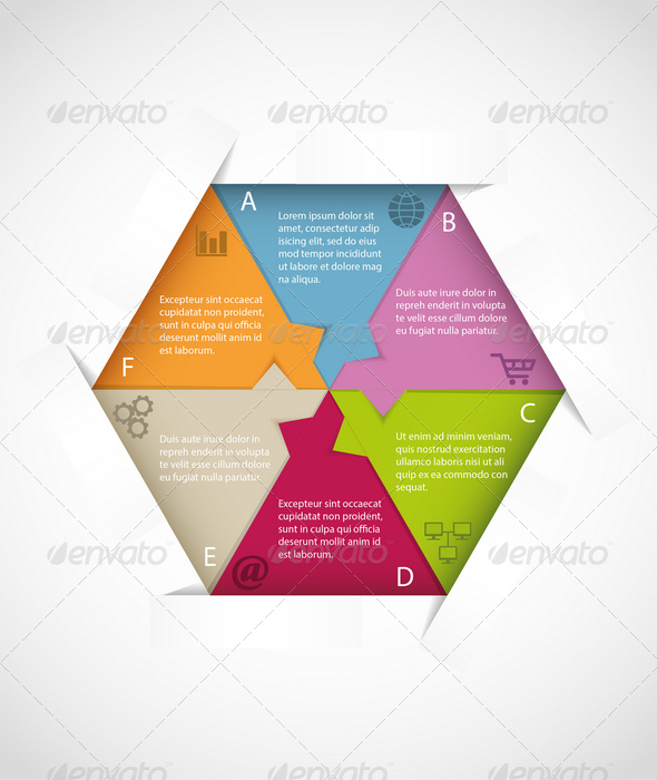 GraphicRiver Hexagon Infographic Template 6817903