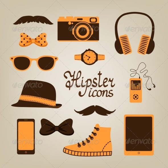 GraphicRiver Hipster Items Collection 6818073