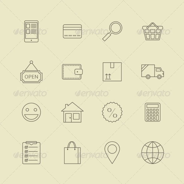 GraphicRiver Navigation Buttons for Online Internet Store 6818078