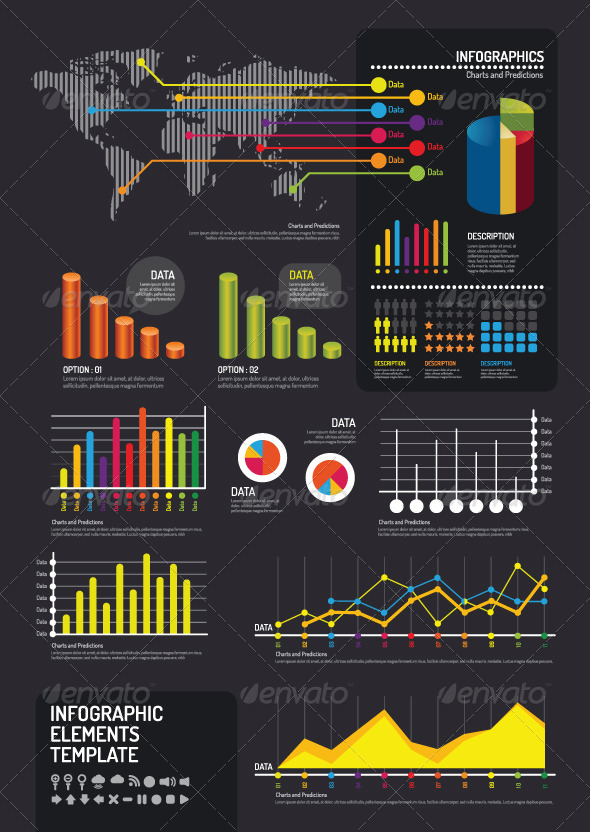 GraphicRiver Infographic Elements Template Vector 6818121