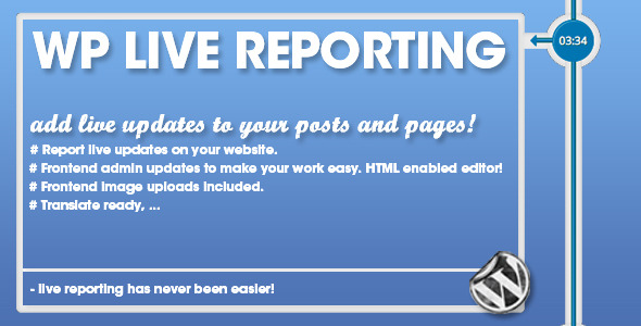 CodeCanyon WP Pro Live Reporting 6777354