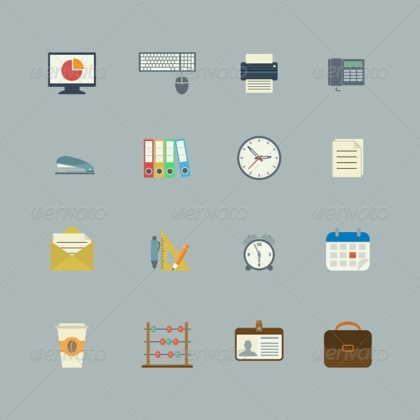 GraphicRiver Business Collection of Flat Stationery Supplies 6818640