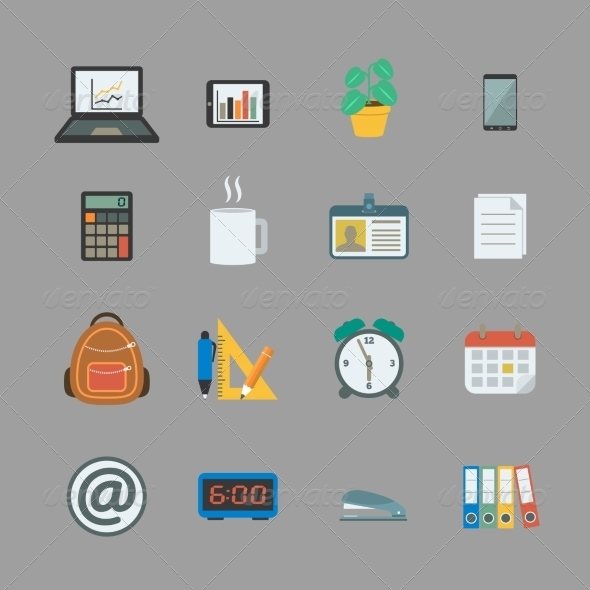GraphicRiver Business Collection of Office Supplies 6818641