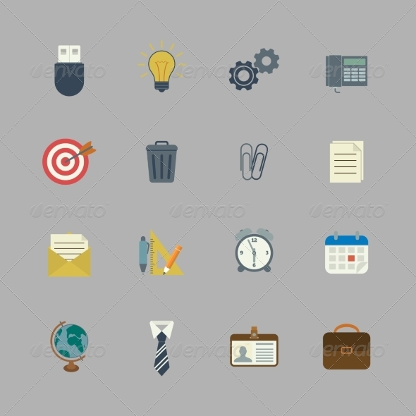 GraphicRiver Business Collection of Flat Stationery Supplies 6818642