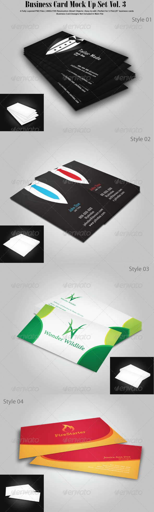 GraphicRiver Business Card Mock Up Set Vol 3 6812784