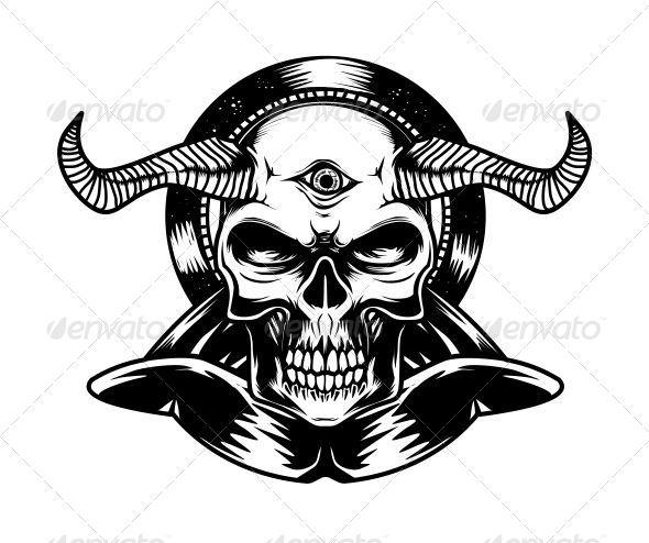 GraphicRiver Devil Skull 6819261