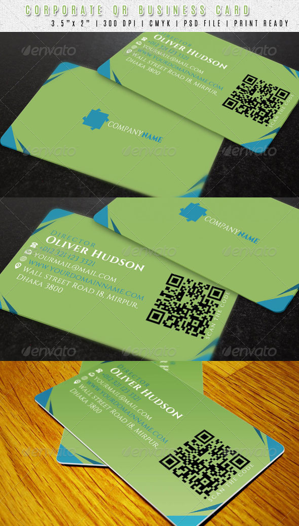 GraphicRiver Clean QR Code Business Card 6819284