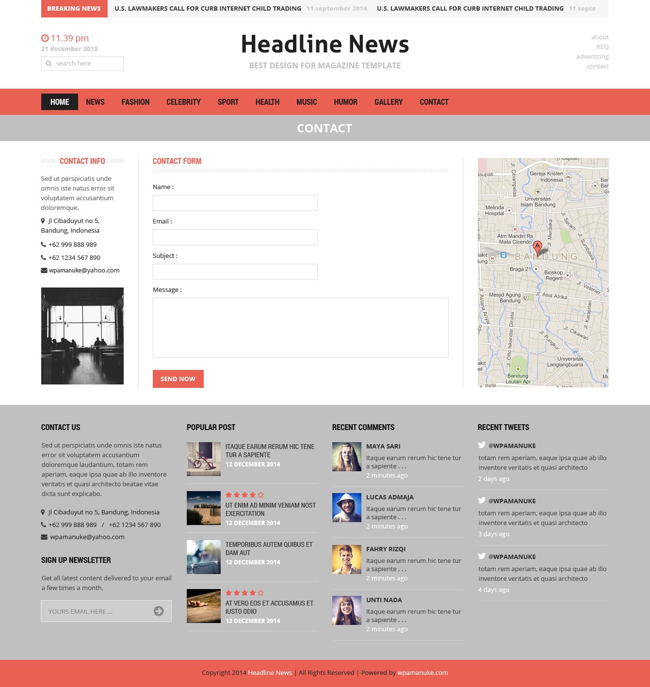 Headline News Magazine PSD Template