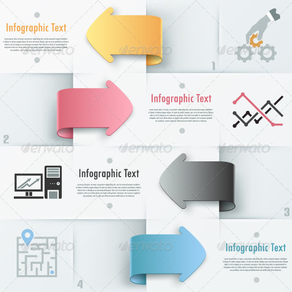 GraphicRiver Modern Infographic Options Banner With Arrows 6819347