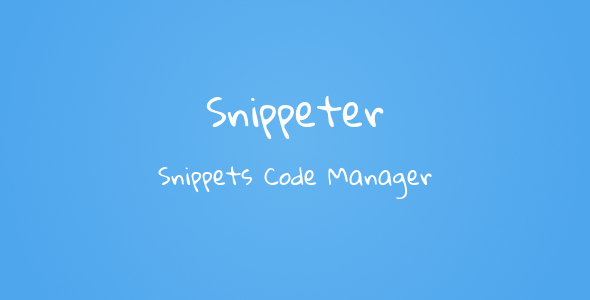 CodeCanyon Snippeter Code Snippets Manager 6819365