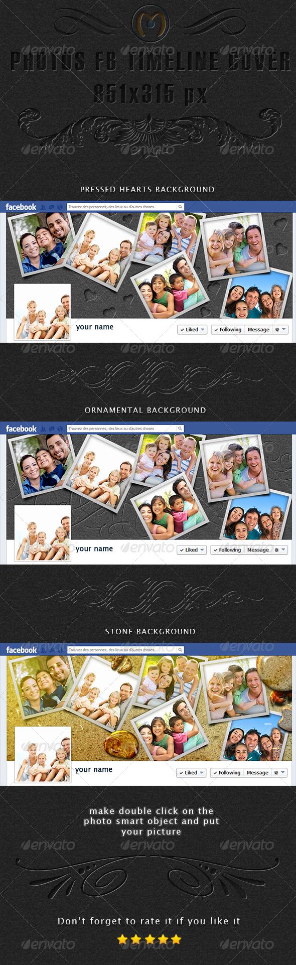 GraphicRiver Photos Facebook Timeline Cover 6815287