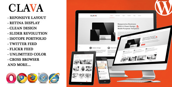 ThemeForest Clava Responsive Multi-Purpose WordPress Theme 6783791